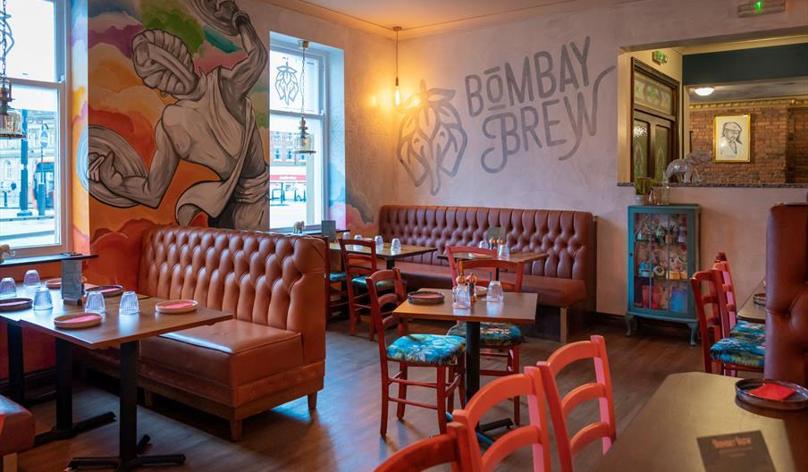 Interior of Bombay Brew.
