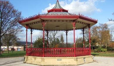 Rochdale Broadfield Park bandstand.