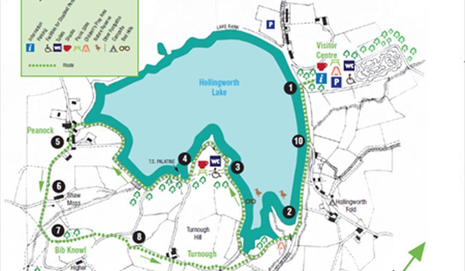 A map of the Bib Knowl Walk