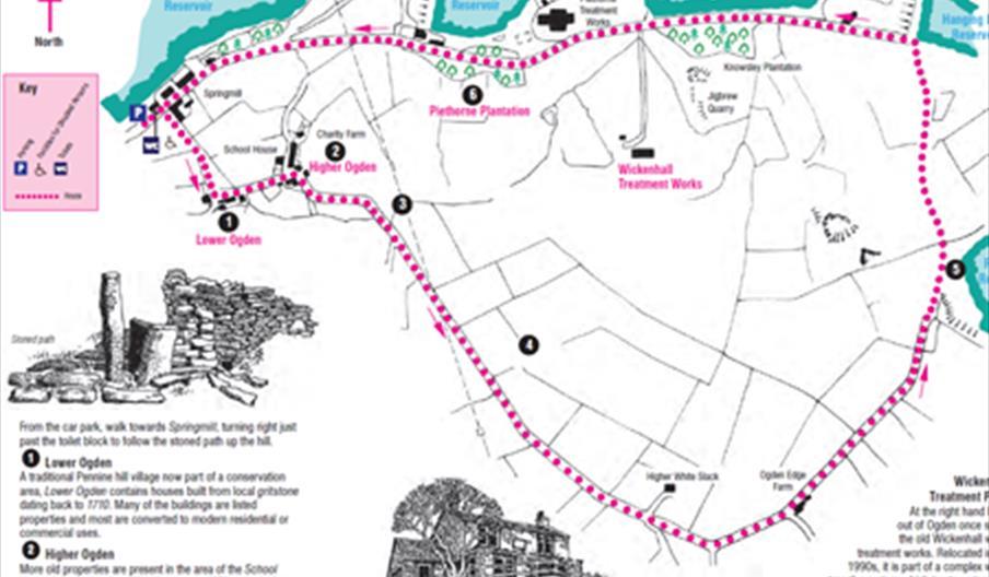 A Map of the Ogden Edge Walk