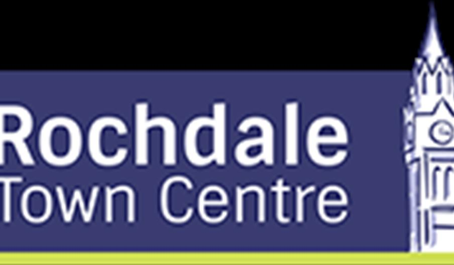 Rochdale town centre text.