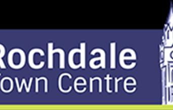 Rochdale town centre text.