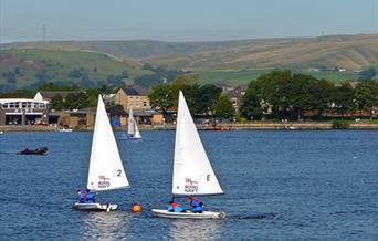 Sailing at Hollingworth Lake Activity Centre