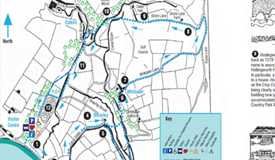 A map of the Whittaker Hollingworth Lake walk