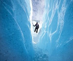 Durchblättern nach Gletscherwanderung
