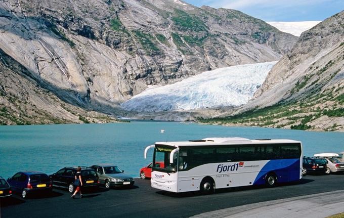 The Glacier Bus Nigardsbreen