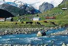 Veitastrond i Luster Kommune, der ein startar fotturen fram til Austerdalsbreen med brefalla Odin og Tor.