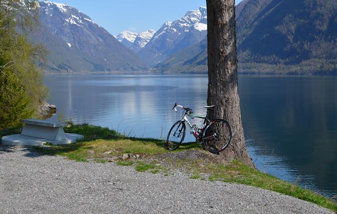 Biking in Balestrand