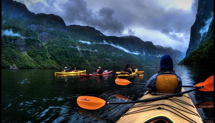 Kayak and short hike, Flåm