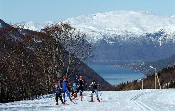 Skihütte der Skianlage Vik
