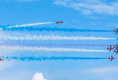 Torbay Airshow 2019 in flight in Paignton, Devon