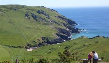 Bolberry Down looking towards Soar Mill Cove, South Devon. Photographer Andy Milsom, Bristol.