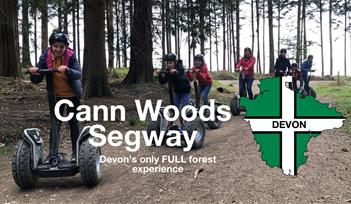 Customers on Segway at in Cann Woods Devon