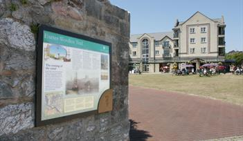Image of the Exeter Woollen Trail signage. Copyright: Tony Howell