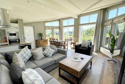 New luxury 2 bedroom glass house lodge at Whitehill Country Park, Paignton