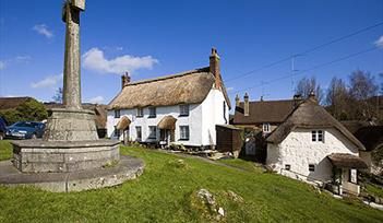 Lustleigh, Dartmoor - memorial and village buildings