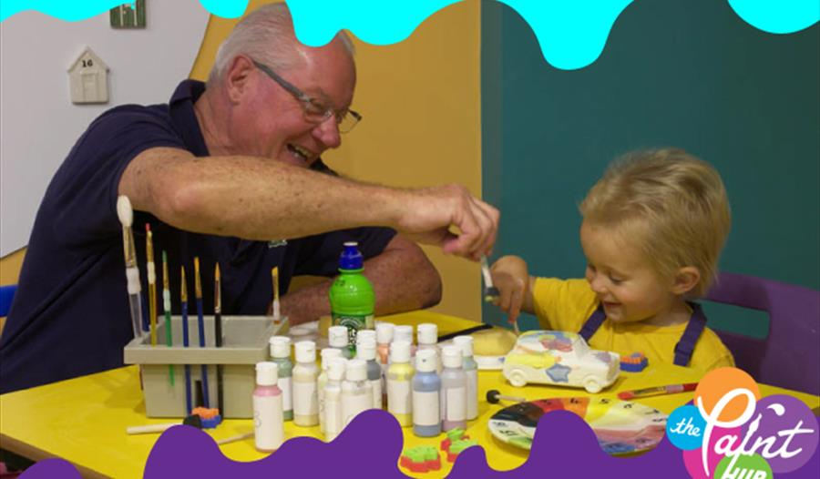creative family time at the paint hub