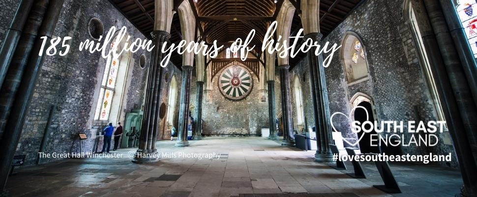 Discover the South East's 185 million years of history including some of the stunning cathedrals and churches.
