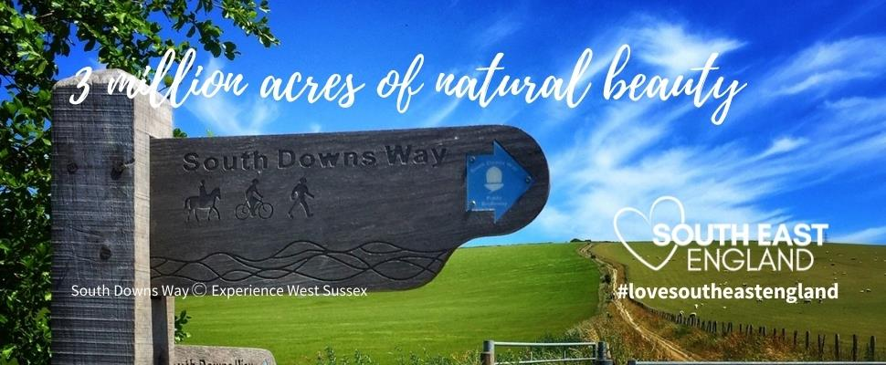 Discover South East England's 3 million acres of natural beauty including two National Parks and nine Areas of Outstanding Natural Beauty