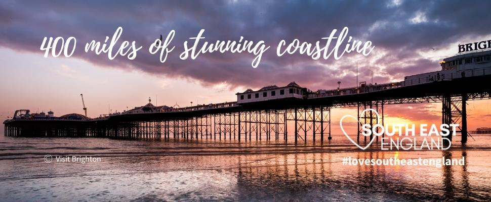 Discover the South Coast's 400 miles of stunning coastline including the vibrant seaside city of Brighton.