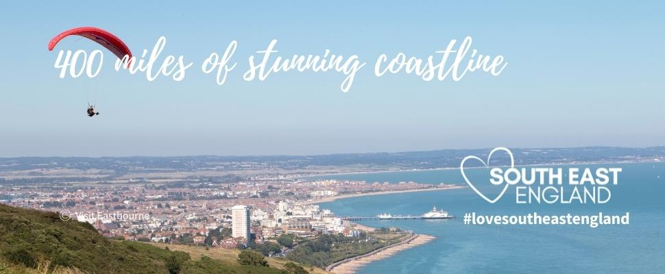 Discover the South Coast's 400 miles of stunning coastline including the seaside coastal town of Eastbourne.