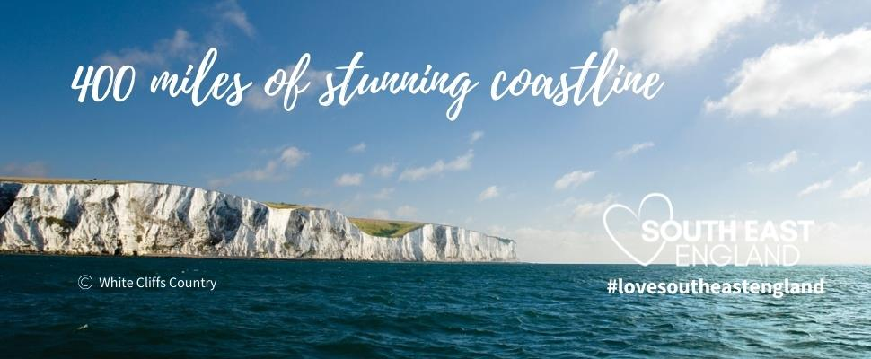 Discover South East England's 400 miles of stunning coastline including the coastal town of Dover, famous for its beautiful white cliffs.