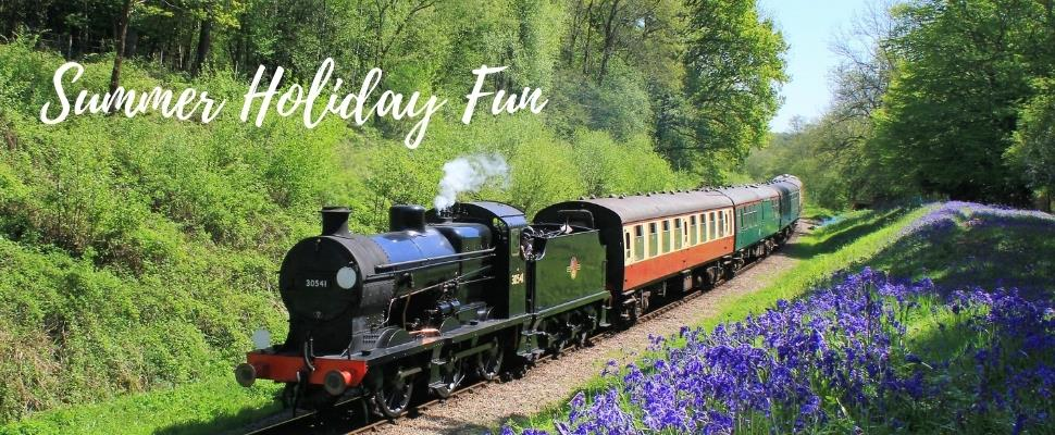 Family Fun this summer holiday on the Bluebell Railway in East Sussex