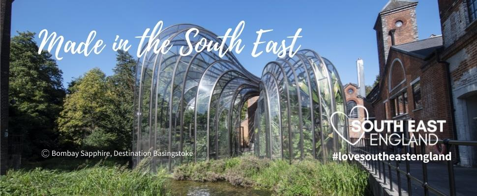 Discover a host of places to visit that make produce, food and drink in South East England including Bombay Sapphire Distillery near Winchester.