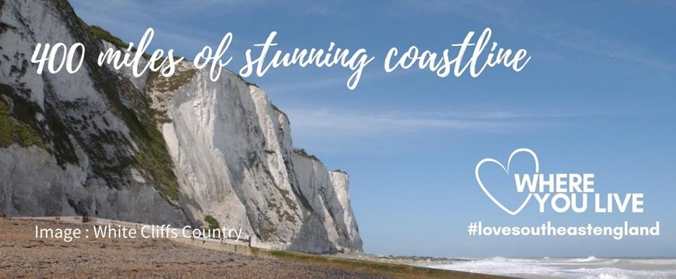 Discover South East England's 400 miles of stunning coastline with its iconic coastal features and award winning blue flag beaches