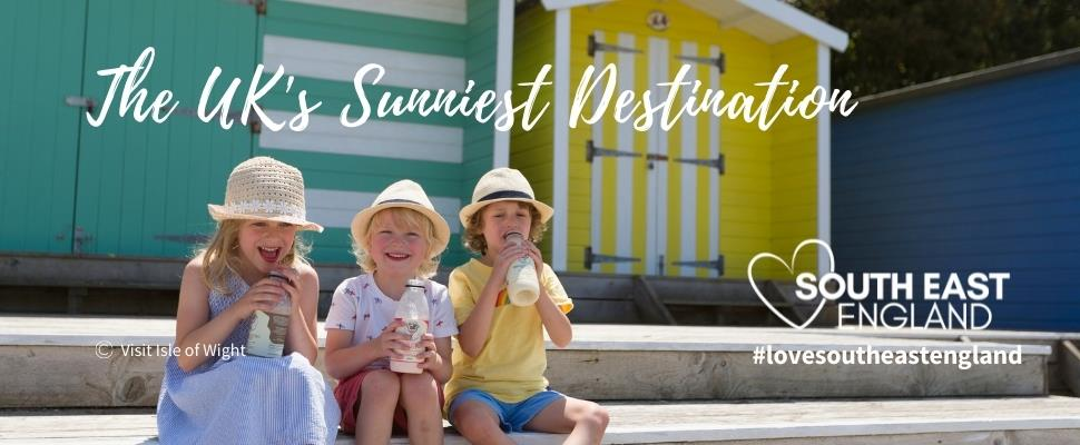 Visit the sunniest destination in the UK in South East England, with over 1900 hours of sunshine a year, its a great place for a holiday, staycation or day out.