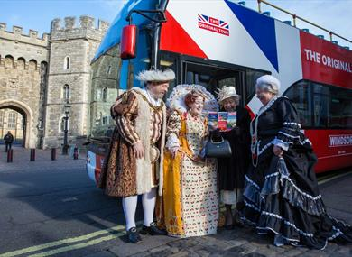 Kings and Queens, past and present, enjoying the Original Tour Windsor!