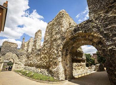 Walls of the ruined Reading Abbey