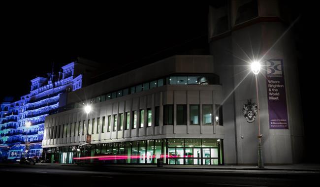 Brighton Centre at night