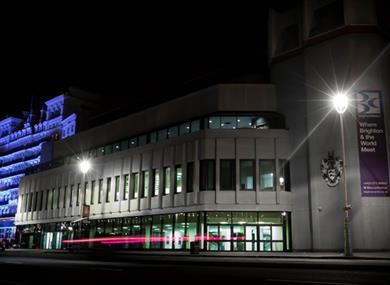 Brighton Centre at night