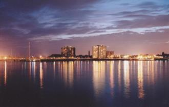Gosport at night, taken from Portsmouth
