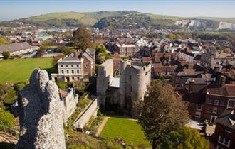 View of Lewes above Lewes Castle