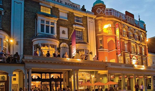 Theatre Royal Brighton - exterior at night