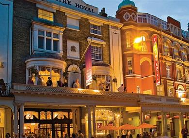 Theatre Royal Brighton - exterior at night