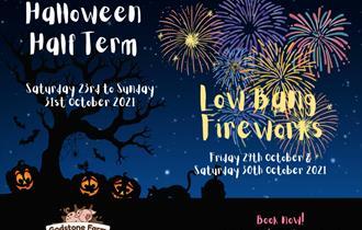 Halloween half term fun and low bangs fireworks at Godstone Farm