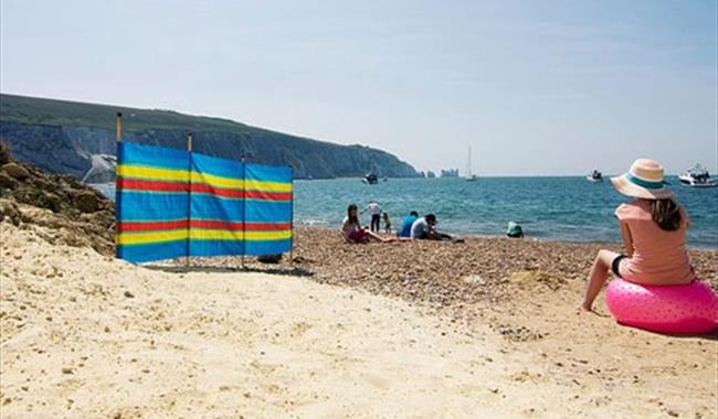 Alum Bay Beach