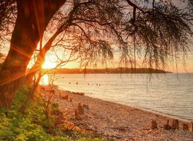 Sunset at Bembridge Beach, Isle of Wight, things to do