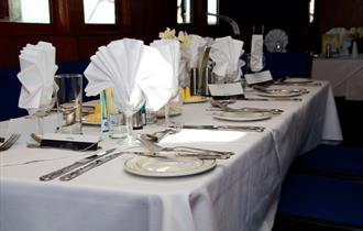 SS Shieldhall dining room