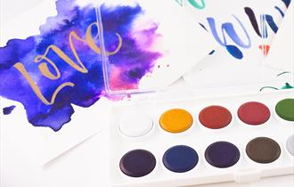 Watercolour Brush Calligraphy Workshop at Cowdray