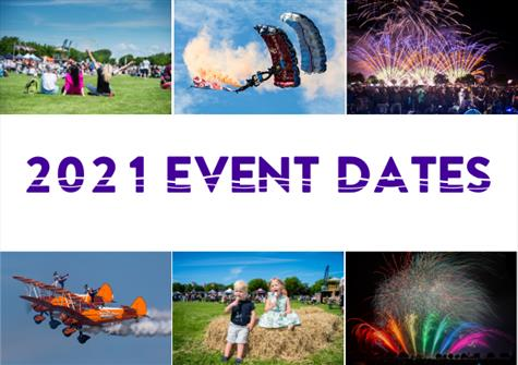 2021 event dates confirmed!