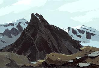 Painting. Tryfan No. 2 by Kyffin Williams (1918–2006). Atkinson Art Gallery Collection.