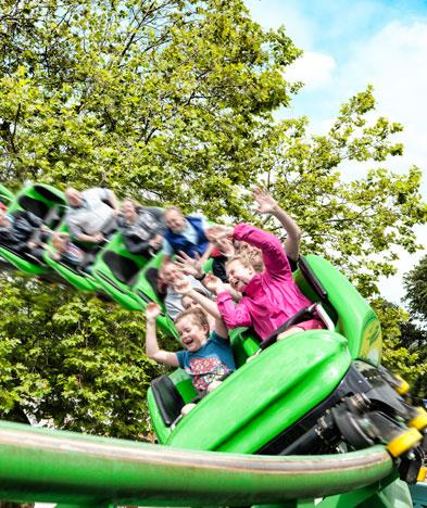 Ride the Accelerator rollercoaster at Drayton Manor Park