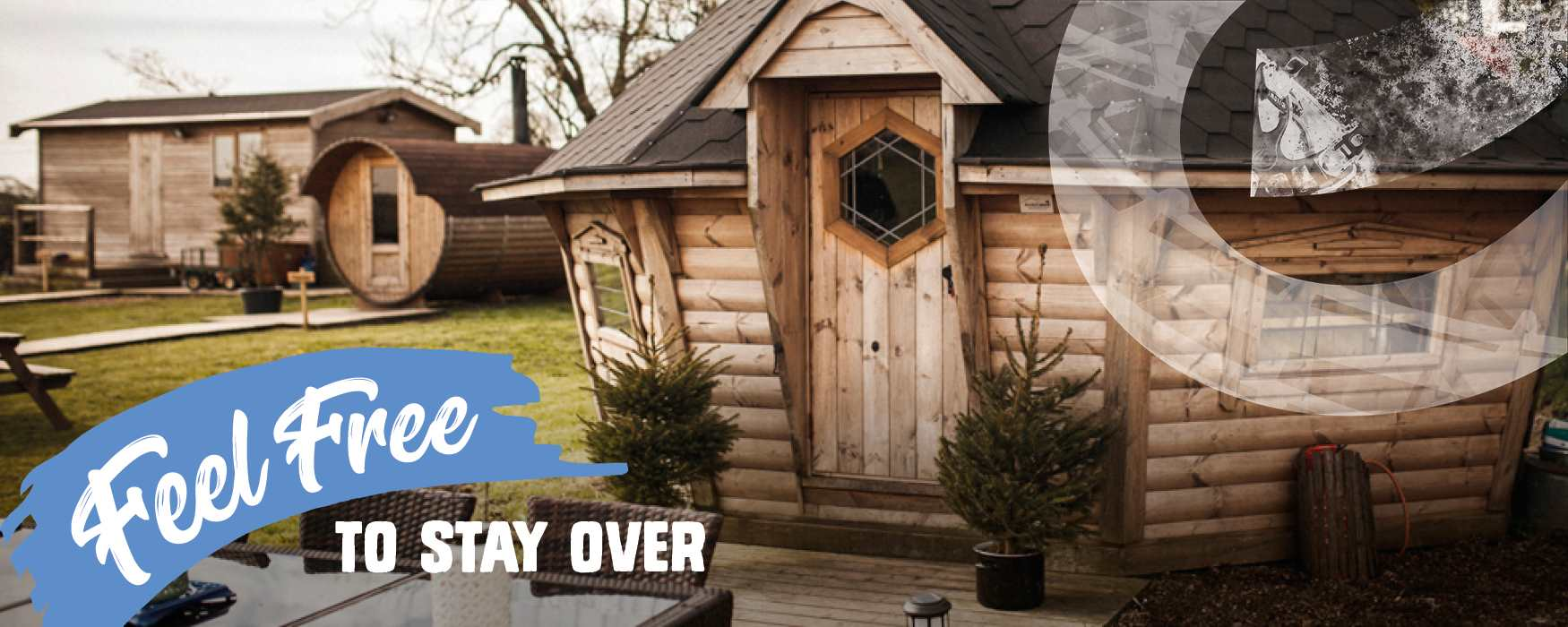 Feel Free to stay over in Staffordshire. Self-catering glamping yurt accommodation