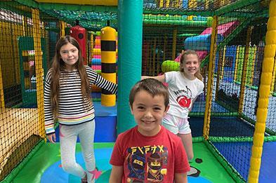 Huge indoor soft play area at Lower Drayton Farm, Penkridge, Staffordshire