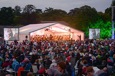 The annual Lichfield Proms held in Beacon Park every September
