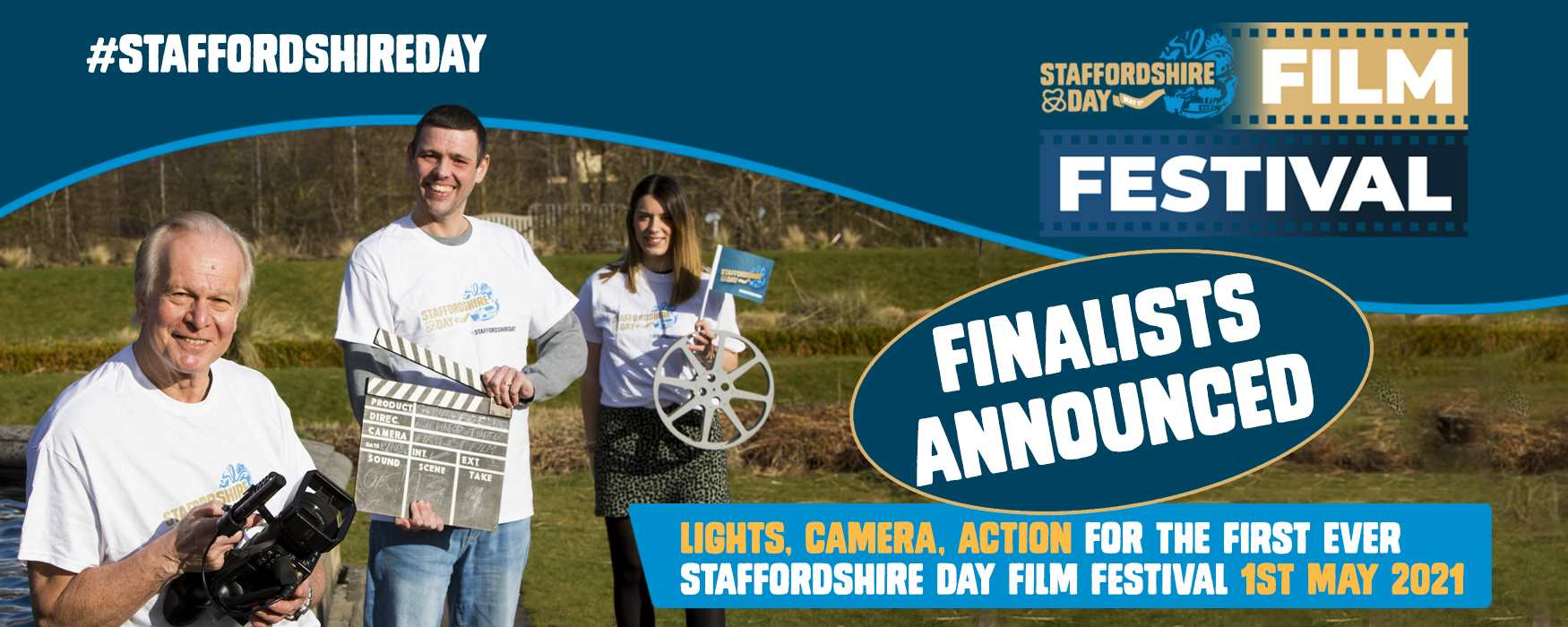 Staffordshire Day Film Festival infographic. Click to visit the film festival blog page with details of finalists.